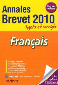 Brigitte Réauté et Michèle Laskar - Français Brevet - Annales sujets et corrigés.