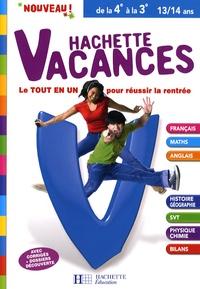 Hachette vacances de la 4e à la 3e - Brigitte Réauté |