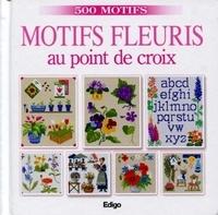 Brigitte Roquemont - Motifs fleuris au point de croix.