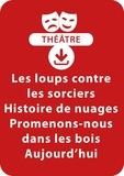 Brigitte Saussard - THEATRALE  : Les loups contre les sorciers ; Histoire de nuages ; Promenons-nous dans les bois aujourd'hui (dès 4 ans) - Un lot de 3 sketches de théâtre à télécharger.