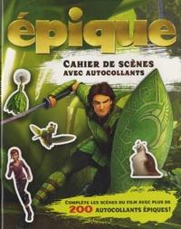Broquet - Epique - Cahier de scènes avec autocollants.