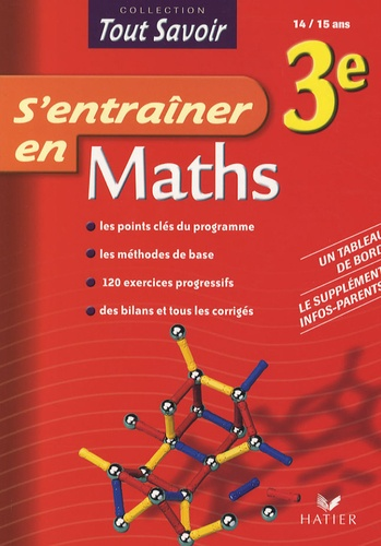 Bruno Benitah - S'entraîner en Maths 3e.