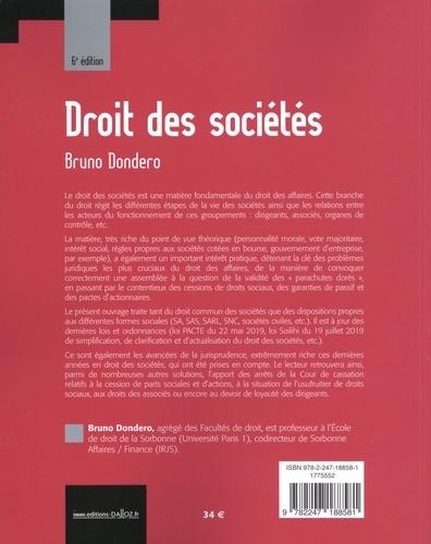 Droit des sociétés 6e édition
