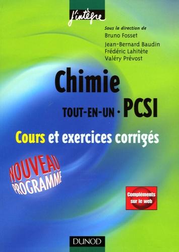 Bruno Fosset et Jean-Bernard Baudin - Chimie Tout-en-un 1ère année PCSI - Cours et exercices corrigés.
