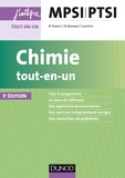 Bruno Fosset et Jean-Bernard Baudin - Chimie tout-en-un MPSI-PTSI.