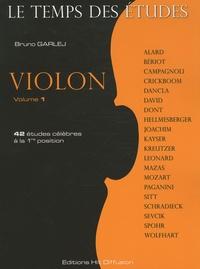 Bruno Garlej - Violon - Tome 1, 42 études célèbres à la 1re position.