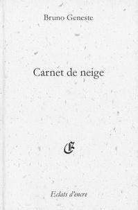 Bruno Geneste - Carnet de neige.