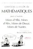 Bruno Harington - Exercices corrigés de mathématiques posés aux oraux du concours communs [sic  des Mines d'Albi, Mines d'Alès, Mines de Douai, Mines de Nantes.