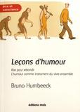 Bruno Humbeeck - Leçons d'humour - Rire pour rebondir, l'humour comme instrument du vivre ensemble.