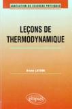 Bruno Latour - Leçons de thermodynamique.