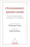 Bruno Maresca et  CREDOC - L'environnement, question sociale. - Dix ans de recherches pour le ministère de l'Environnement.