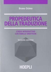 Bruno Osimo - Propedeutica della traduzione.