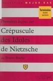 Bruno Roche et Pascal Gauchon - Premières leçons sur Crépuscule des idoles, de Nietzsche.
