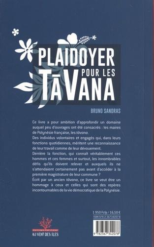 Plaidoyer en faveur des tavana