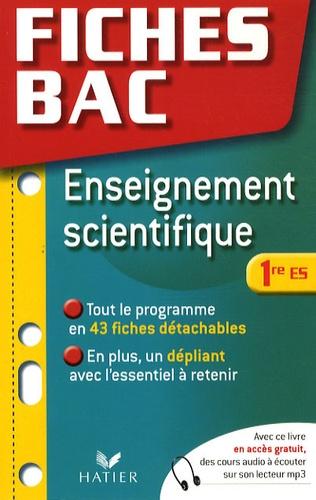 Bruno Semelin - Enseignement scientifique 1e ES.