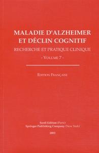 Bruno Vellas et B Winblad - Maladie d'Alzheimer et déclin cognitif.