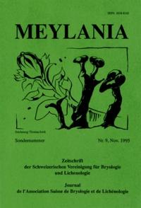 Jette Lewinsky-Haapasaari - Meylania N° 9, Novembre 1995 : Illustrierter Bestimmungsschlüssel zu den europäischen Arten der Gattung Orthotrichum.