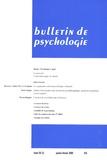 André Demailly et François Pingaud - Bulletin de psychologie N° 475, Janvier-févr : Psychologie et sport.