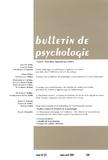 Stéphane Laurens - Bulletin de psychologie N° 530, Mars-avril 2 : Education, apprentissage scolaire.