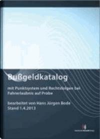 Bußgeldkatalog - mit Punktsystem und Rechtsfolgen bei Fahrerlaubnis auf Probe mit Erläuterungen.