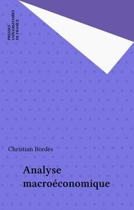 C Bordes - Analyse macroéconomique.