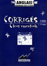 C Chateau et A Heather - Clear essentials Anglais secondaire-BTS-1er cycle - Corrigés.