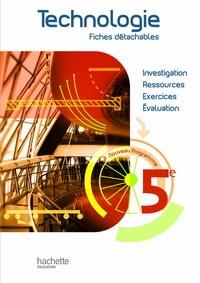 C. Collard et M Lebrun - Technologie 5e - Fiches détachables, programme 2010.