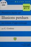 """C Couleau - Premières leçons sur """"Illusions perdues"""", un roman d'apprentissage."""