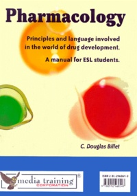 Histoiresdenlire.be Pharmacology. - Principles and language involved in the world of drug development, a manual for ESL students Image
