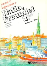 C Laureau et Jean Zehnacker - Allemand 3e LV2 - Cahier de l'élève.