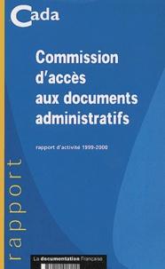 Commission daccès aux documents administratifs. Rapport dactivité 1999-2000.pdf