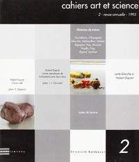 Allain Glykos - Cahiers art et science N° 2/1995 : Histoires de traces.