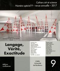 Allain Glykos - Cahiers art et science N° 9/2017 : Langage, vérité, exactitude.