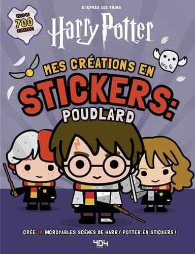 Mes créations en stickers : Poudlard. Crée 10 incroyables scènes de Harry Potter en stickers !