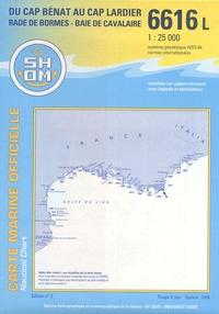 SHOM - Du Cap Bénat au Cap Lardier (Rade Bormes - Baie de Cavalaire) - 1/25 000.