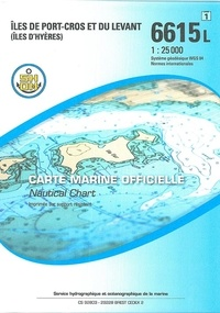 SHOM - Iles de Port-Cros et du Levant (Iles d'Hyères) - 1/25 000.