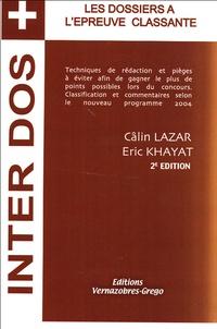 Câlin Lazar - Les dossiers à l'examen classant.