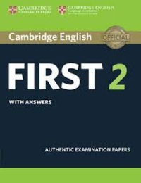 Accentsonline.fr Cambridge English First 2 with Answers - Authentic Examination Papers Image