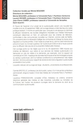 Droit de la régulation audiovisuelle