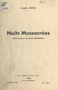 Camille Bryen et Henri Baranger - Nuits massacrées.