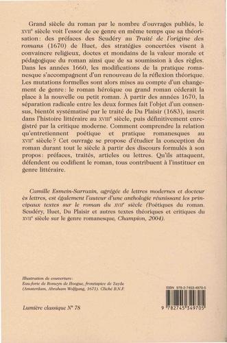 L'essor du roman. Discours théorique et constitution d'un genre littéraire au XVIIe siècle