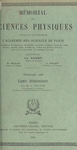 Camille Gutton et  Académie des sciences de Paris - Lignes téléphoniques.