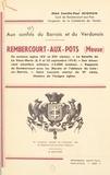 Camille-Paul Joignon et Ch. Aimond - Rembercourt-aux-Pots (Meuse), aux confins du Barrois et du Verdunois.