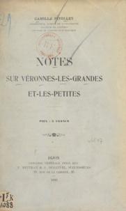 Camille Pitollet - Notes sur Véronnes-les-Grandes et les-Petites.