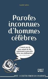 Camille Saféris - Paroles inconnues d'hommes célèbres.