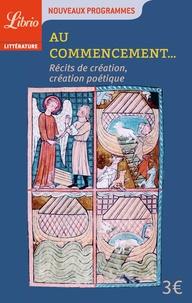 Camille Zabka - Au commencement - Récits de création et création poétique.