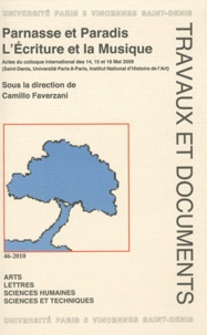 Camillo Faverzani - Parnasse et Paradis - L'Ecriture et la Musique.