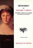 Campan - Mémoires de Madame Campan, première femme de chambre de Marie-Antoinette.