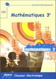 Christiane Michel et Jean Michel - Mathématiques 3e, Classeur électronique - CD-ROM Licence établissement.
