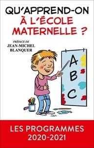 Canopé - Qu'apprend-on à l'école maternelle ?.